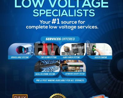 LOW VOLTAGE EXPERTS (FREE QUOTE TODAY)