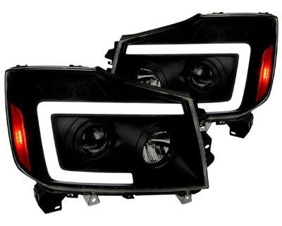 New Titan/Armada LED DRL Bar Projector Headlights by Spec-D