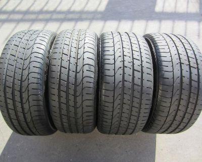 4 Used Bmw Tires 225/35/19 , 255/30/19 Pirelli Pzero P Zero Rft Run Flat 90-99%