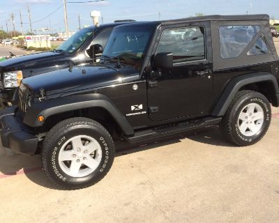 Immaculate black Jeep 4 x 4 for sale
