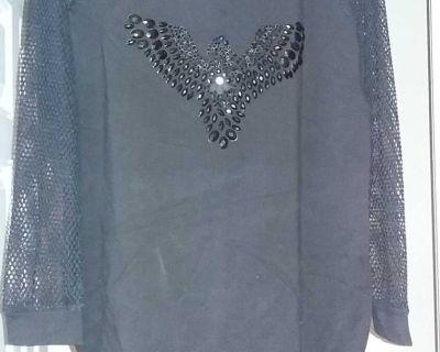 Ladies Long top with mesh sleeves