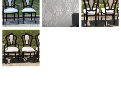 Beautiful Dining room chairs 4 of them. Rose print on seats.