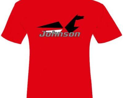 Oem Brp Johnson Vintage Seahorse Red Short Sleeve T-shirt Medium