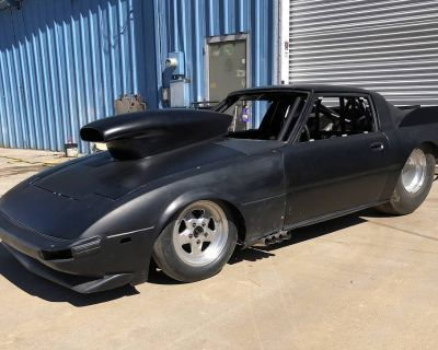 Mazda RX-7 Bodied round tube chassis drag car roller