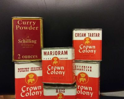 Vintage Tin Spice Container Lot (price is for all)