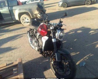Salvage Red 2019 Honda Cb1000