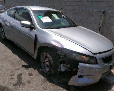 Salvage Silver 2009 Honda Accord Cpe