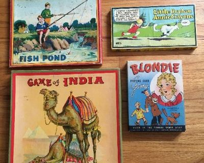 ALL VINTAGE - TOYS, STERLING, SPORTS, AD SIGNS, POLITICAL, MUSIC, POSTCARDS, PAPER, CLOTHES, COINS,