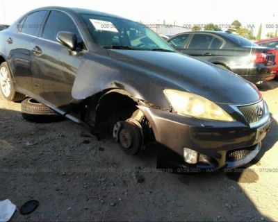 Salvage Black 2010 Lexus Is 250