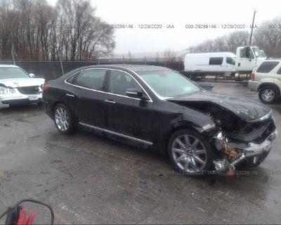 Salvage Black 2013 Hyundai Equus