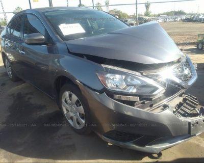 Salvage Gray 2016 Nissan Sentra