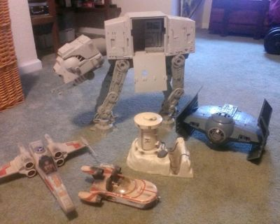 Vintage Star Wars and WWE action figures