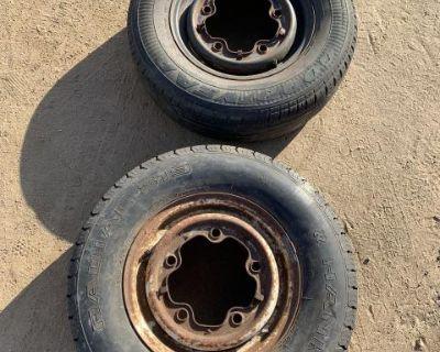 Bus wheel/ tire.