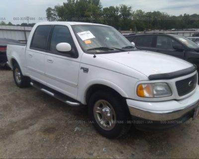 Salvage White 2003 Ford F-150
