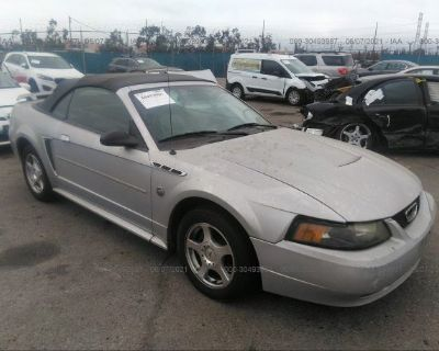 Salvage Silver 2004 Ford Mustang