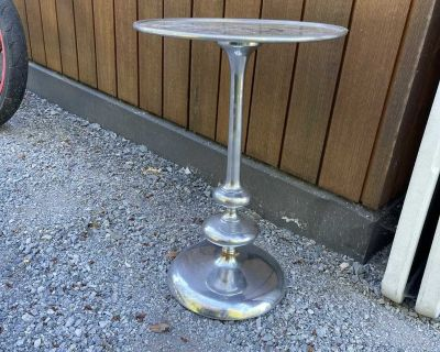 Silver chrome side table