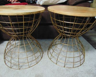 Two side tables - GUC