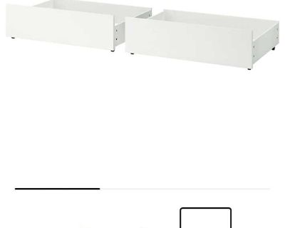 Malm drawers under bed / tiroirs sous lit - for Queen / King beds