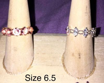 .925s Sterling silver size 6.5 ring