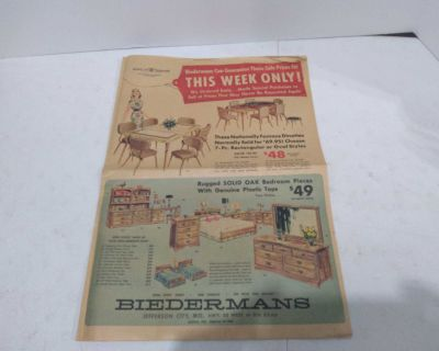 Vintage BIEDERMANS Advertising Pullout from Sunday Paper (1965)