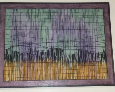 """""""Purple Passion"""" - Large Painting String Art by Hugo - COA - 46"""" x 61"""""""
