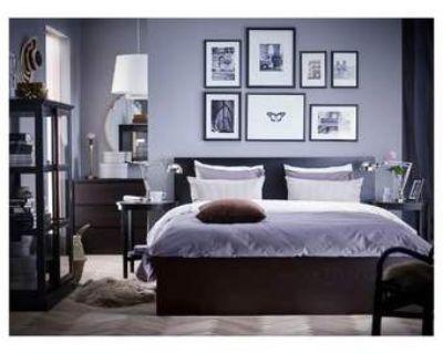 Ikea MALM Black King Bed Frame