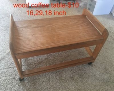 coffee table with wheel
