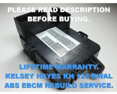 Dodge Grand Caravan Kelsey Hayes Kh 125 Rwal Abs Ebcm Rebuild Service Only 98 99