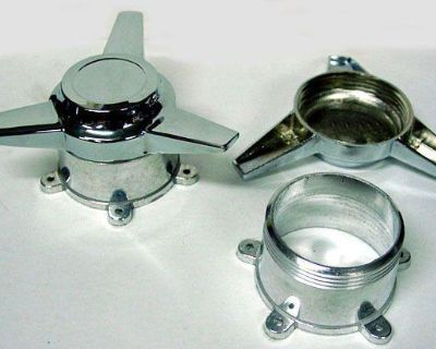 """4 Spinners For Us Mag Indy American Racing 5 Ear 5 Lug St Adapter 2 1/8"""" Spacing"""