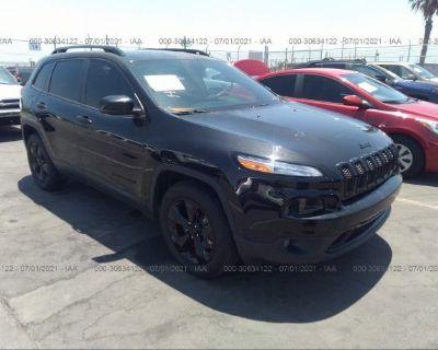 Salvage Black 2016 Jeep Cherokee