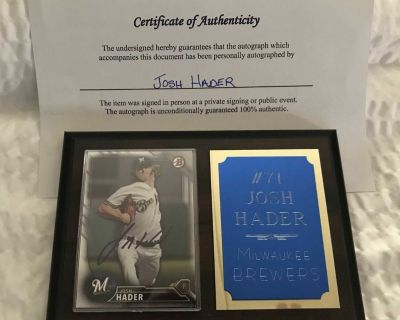 Brewers No-Hitter Autograph Combo