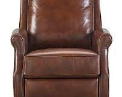 Reg. $1099 - Sale Price $399 - Leeah Leather Pushback Recliner