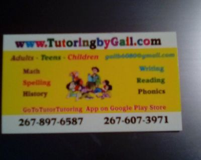 Expert Tutor Available for Elementary Students!