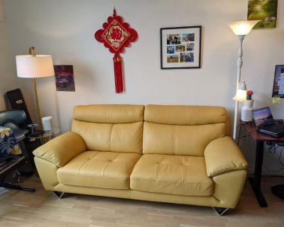 "Holborn Genuine Leather 86"" Pillow Top Arm Sofa by Orren Ellis"