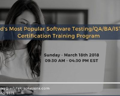 Software Testing/QA/BA/ISTQB Certification Training