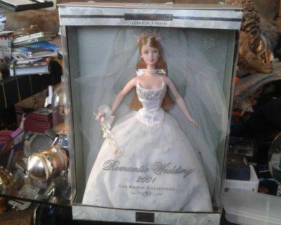 2001 Barbie romantic wedding bridal series 2 doll new