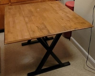 """40"""" Square Drop Leaf Rustic Dining Table"""