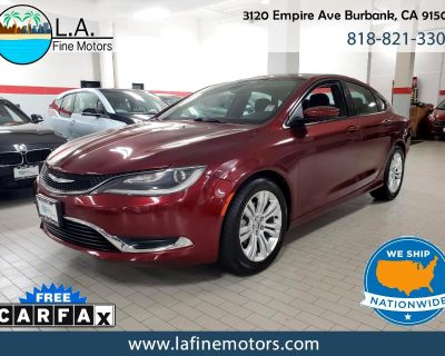 Used 2015 Chrysler 200 Limited w/Touch Screen, Back Up Cam, & Alloy Wheel