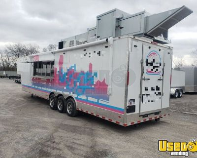 ONLY USED 3 TIMES  - Freedom 8.5' x 42' Gooseneck Pro Mobile Kitchen Concession Trailer