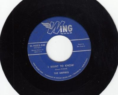 EMPIRES ~ I Want To Know*VG*45 !