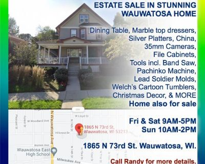 Wauwatosa Estate and Home Sale - Antiques, Furniture, and loads of other items must go.
