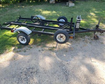 Motorcycle trailer, drop down ,ramp free