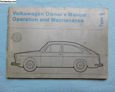 used 1973 Type 3 owners manual