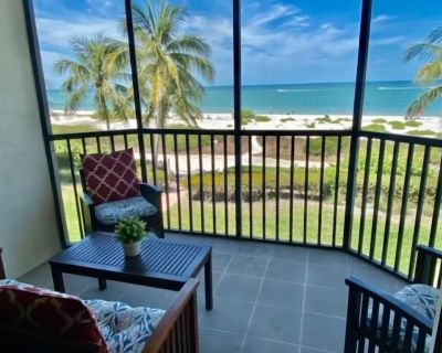 Riviera Club #204 at 7500 Estero Blvd is a two bedroom, two full bathroom, gulf front condo, that sleeps 6, and will WOW you the minute you walk through the door. - South Island