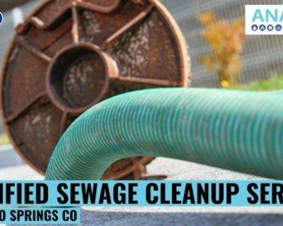 Certified Sewage Cleanup Service in Colorado Springs CO