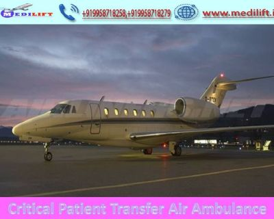 Pick Reasonable Cost Air Ambulance Ranchi with Full Medical Support