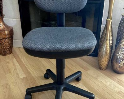 Basic Task Chair in Charcoal Grey & Black Birdseye Pattern Fabric by Office Star Products