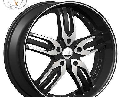 """26"""" Velocity 125 Black Wheels Rims Tires Dodge Ram 1500 Durango Dakota"""