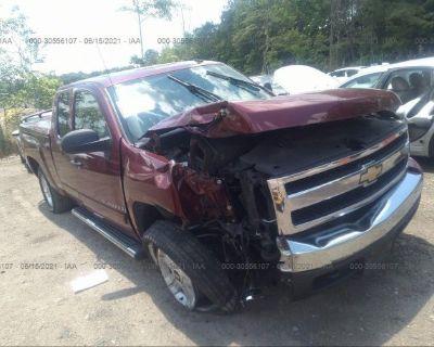 Salvage Maroon 2008 Chevrolet Silverado 1500