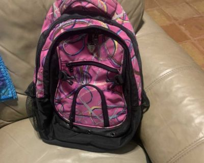 Pink Backpack with Laptop Compartment